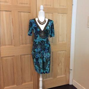 Unique Teal/Purple Dress by MonAmi